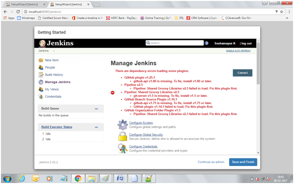 Jenkins dependency errors